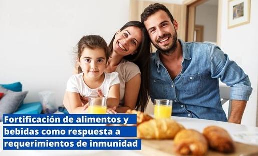 Fortificación de alimentos y bebidas como respuesta a requerimientos de inmunidad