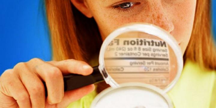 Etiqueta limpia en productos de panadería